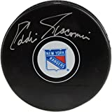 Ed Giacomin New York Rangers Autographed Hockey Puck - Fanatics Authentic Certified - Autographed NHL Pucks