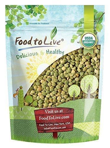Organic Green Lentils, 2.5 Pounds — Whole Dry Beans, Non-GMO, Kosher, Raw, Sproutable, Bulk