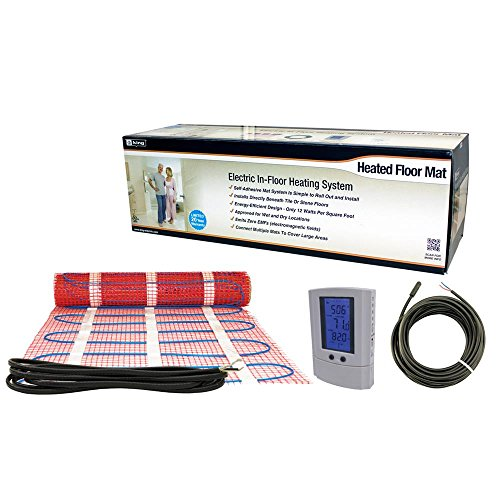 King Electric FCM2-25T 240-volt Electric in Floor Heating Mat 25 Square Feet with Stat