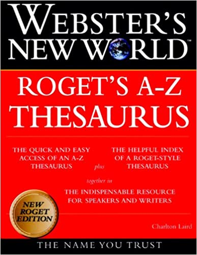 Websters New World Rogets A Z Thesaurus Charlton Laird The