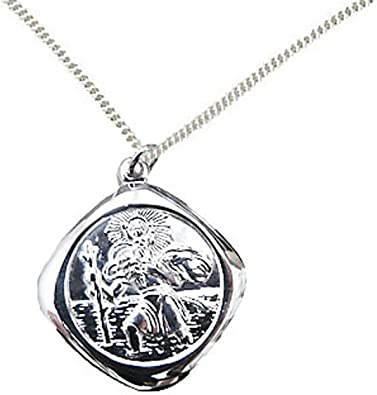Sterling Silver One Sided Good Luck Items Necklace