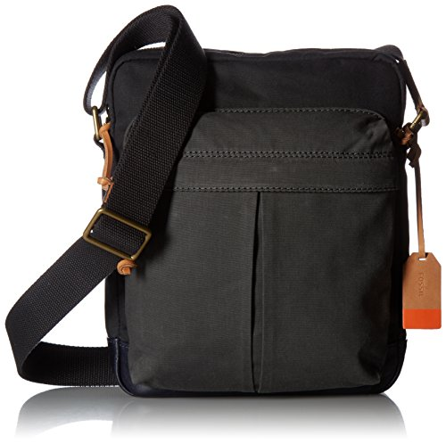 Price comparison product image Fossil Men's Defender Small Messenger, Smoke Grey