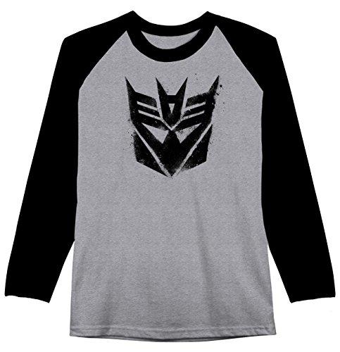 Transformers Drippy Decepticon Mens Raglan T-shirt (X-Large)