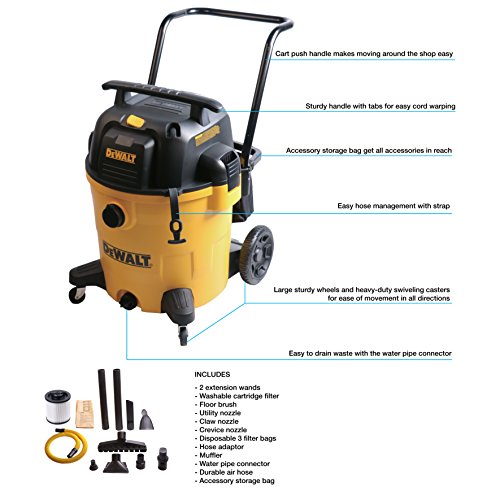 DeWALT 16 Gallon Poly Wet/Dry vac/Acc by DEWALT (Image #3)