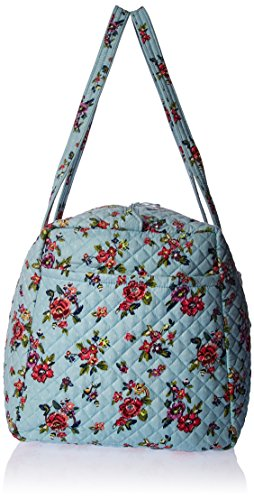 51xSrHk5lmL - Vera Bradley Iconic Large Travel Duffel, Signature Cotton, Water Bouquet, water bouquet, One Size
