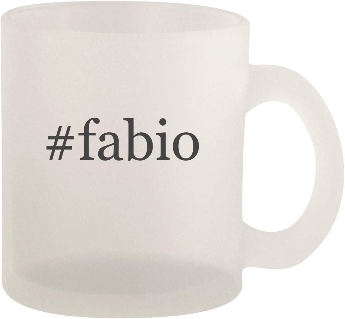 #fabio - Glass 10oz Frosted Coffee Mug