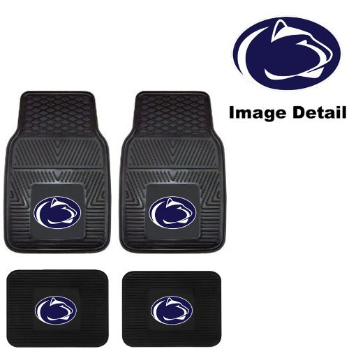 PSU Penn State University Nittany Lions Front & Rear Car Truck SUV Vinyl Car Floor Mats - 4PC