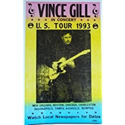 Vince Gill US Tour 1993 Poster