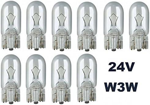 /W2,1/x 9,5d/ /Lampada 24/Volt/ Base in vetro Lampada /10/pezzi/ Lampa /T10/ /3/Watt/ /NFZ con illuminazione/ /W 3/W/