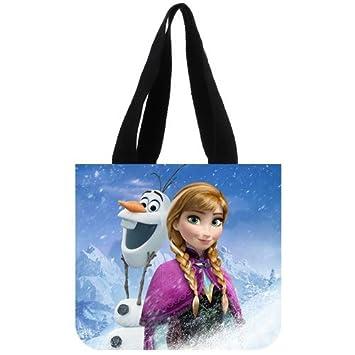 73e391fb4a Amazon.com   Custom Disney Movie Cartoon Lovely Frozen Snow Queen Casual  Canvas Shoulder Tote Bag Two Side   Beauty