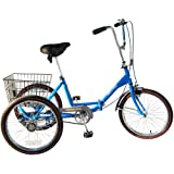 Worksman Trifecta PT3CBFBLUE Port O Trike 3 speed Adult Tricycle (Blue)