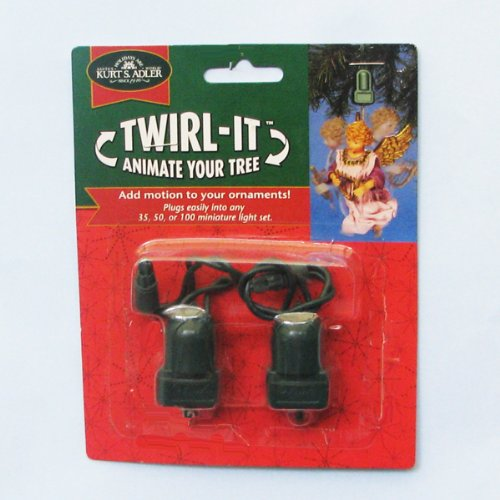 Kurt Adler Twirl-It Motor Pigtails, Set of 2