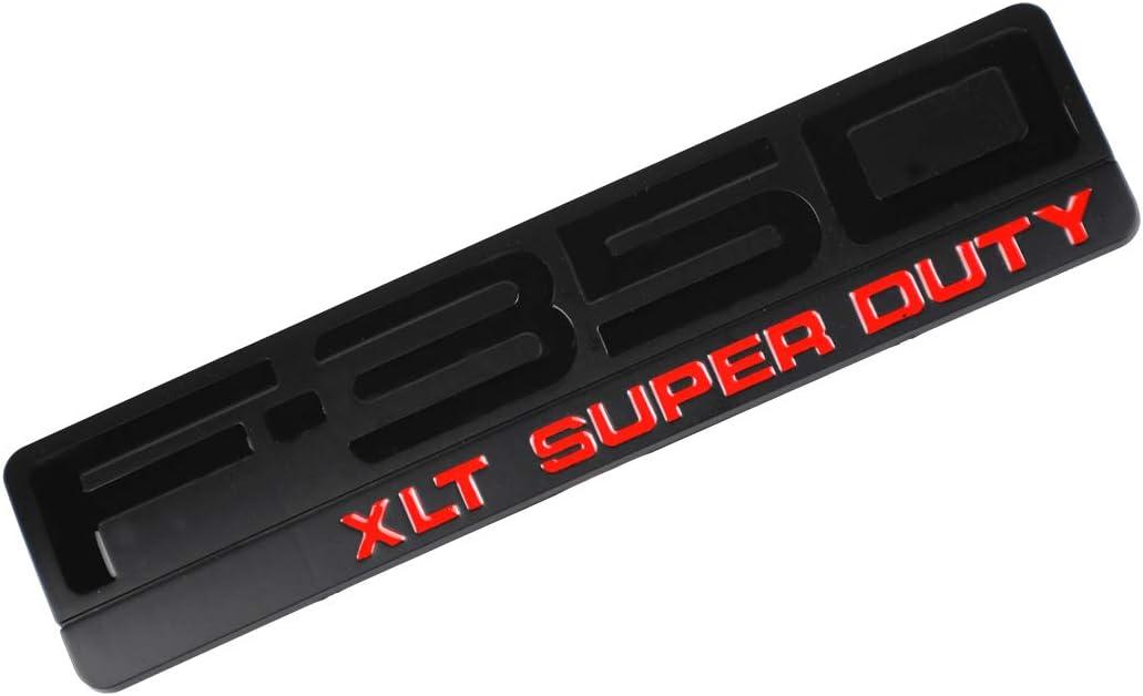F350 XLT SUPER DUTY Emblem Chrome F350 Side Fender Badge 3D Logo Replacement for F350 XLT Pickup