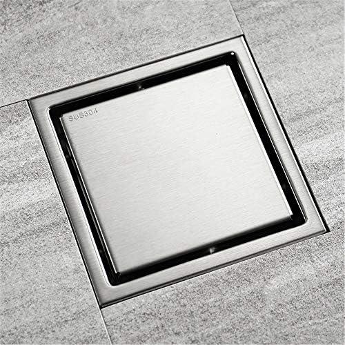 Kuingbhn Bodenablauf Antike Messing Edelstahl Stealth Deodorant Bodenablauf kann mit großem Hubraum 150x150x50mm mit Ziegeln gedeckt Werden für Badezimmer Dusche Zimmer Toilette Wäscherei Ga