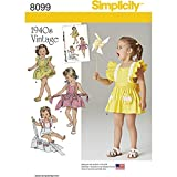 vintage clothing patterns - Simplicity Creative Patterns Simplicity Patterns Toddlers' Romper and Button-on Skirt Size: A (1/2-1-2-3-4))) , 8099