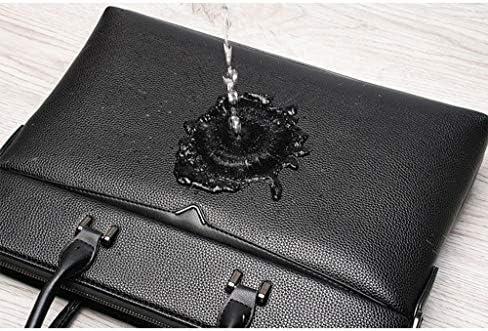 Borsa da lavoro qualità PU pelle business casual 2019 nuova borsa uomo a mano tracolla borsa viaggio laptop 15 pollici (Colore : marrone scuro, Taglia : L)