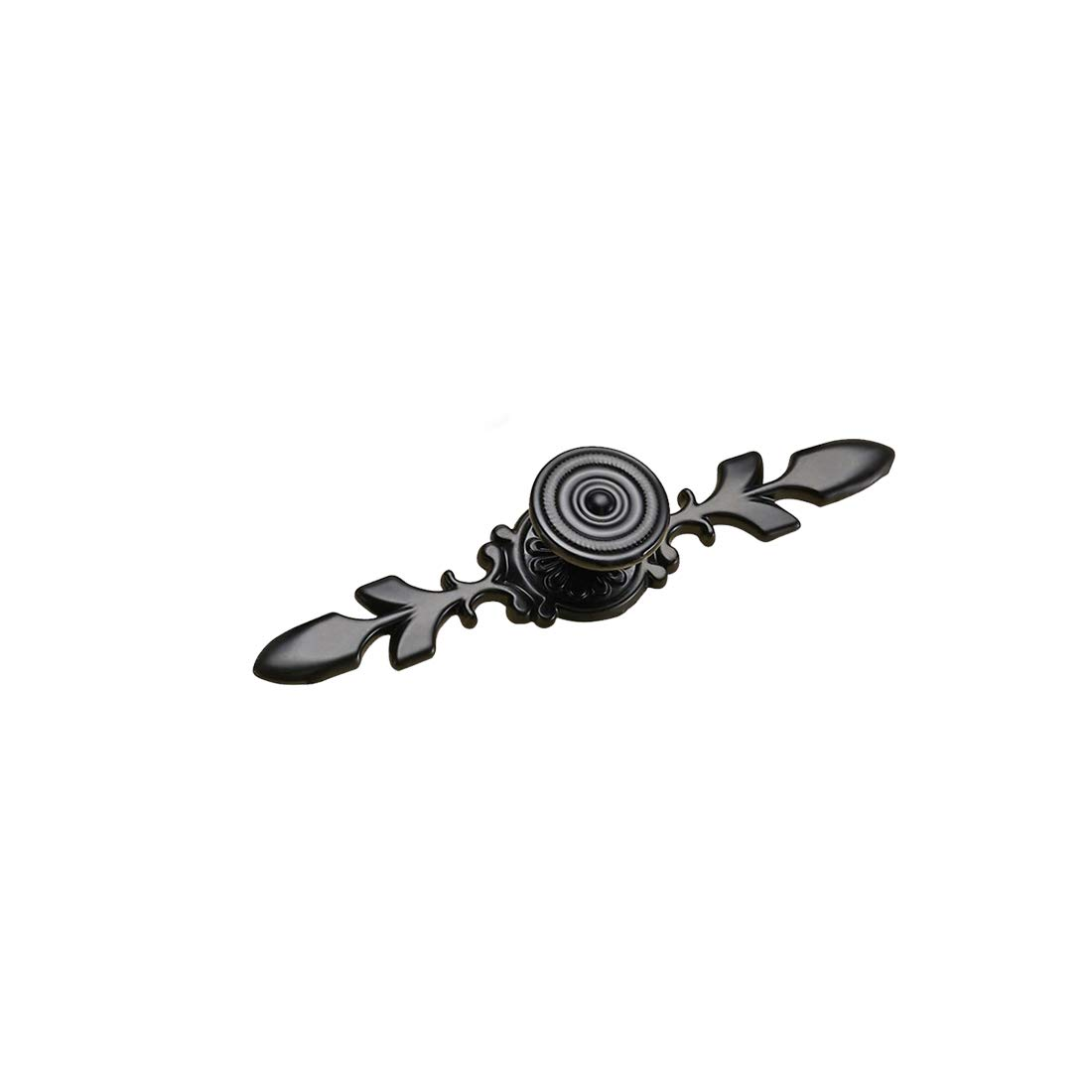 Autoly Bar Cabinet Pull Leaf Drawer Handles Knobs Single Hole Hardware for Kitchen Bathroom Cabinets Cupboard 4.7in 120mm Overall Length 6 Pack 9066