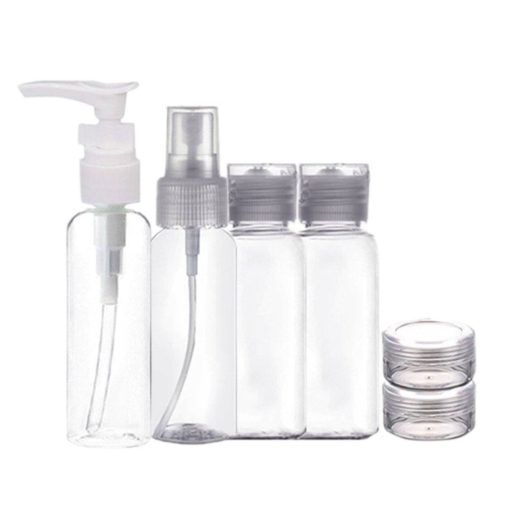 6 PCS Portable Empty Refillable Bottles Set Mist Spray Perfume Cream Cosmetic Makeup Bottle Jar Travel Kit Elisona