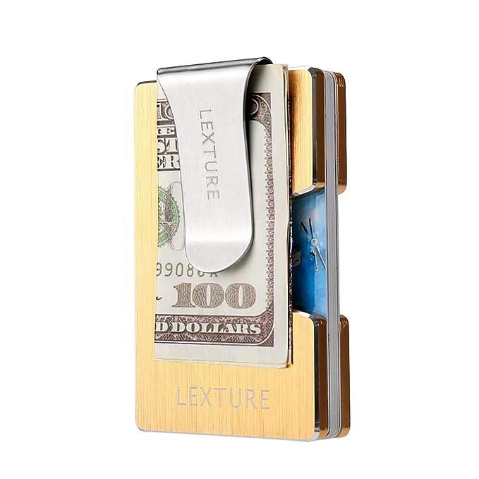 Amazon.com: Billetera de aluminio RFID para tarjetas de ...