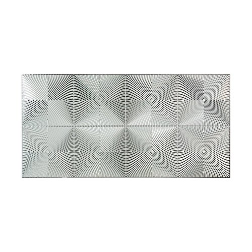 Fasade - Echo Brushed Aluminum Decorative Wall Panel - Fast and Easy Installation (4' X 8' Panel)