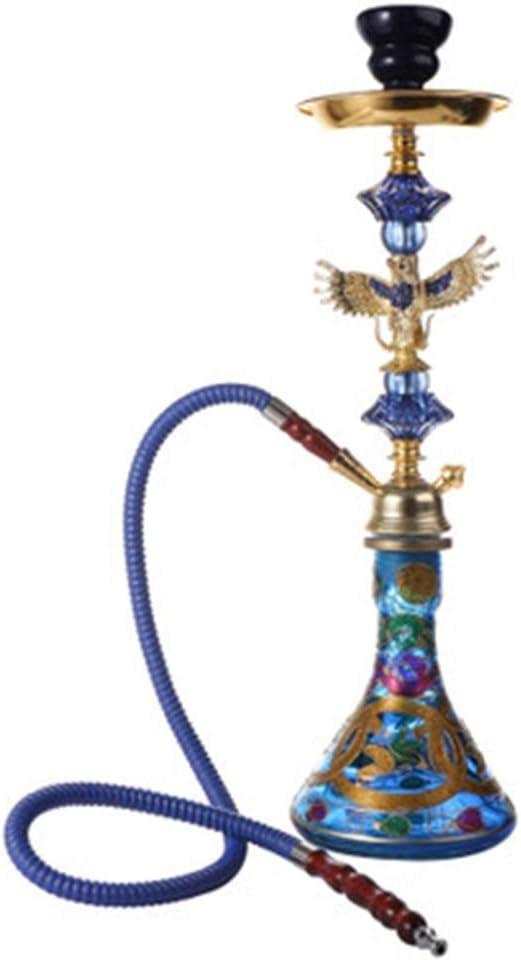 YYF Narguile Árabe Conjunto de Fumar Marihuana Fumar Pipa de Agua Olla de cerámica Barra del Club Nocturno Conjunto Completo de Accesorios (Color : A)