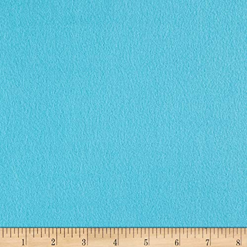 lar Fleece Solid Turquoise Fabric by The Yard ()
