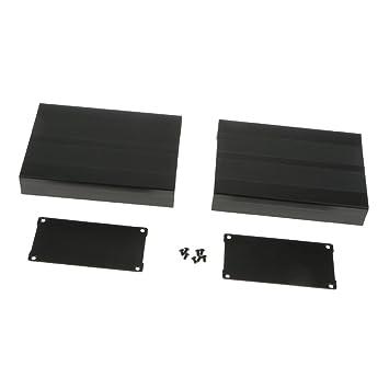 MagiDeal Schwarz-Aluminium-Projekt Gehäuse Elektronik- Project Box ...