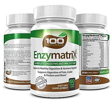 Amazon.com: 100 Naturals enzymatrix sistema digestivo ...