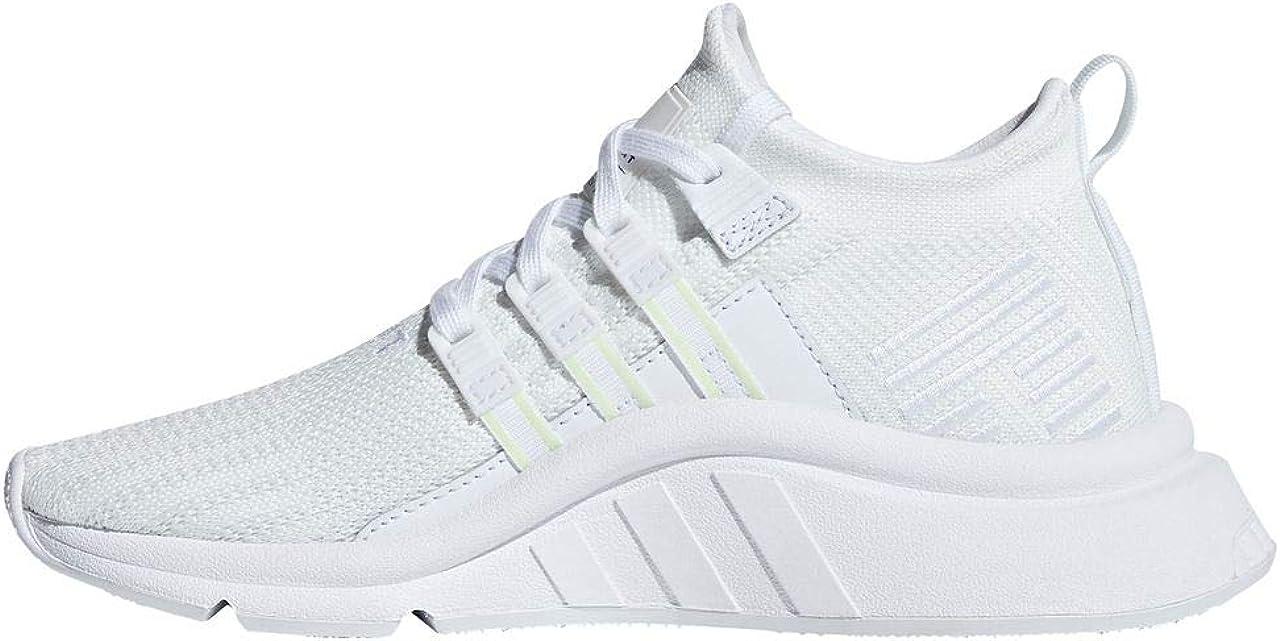 adidas Originals EQT Support ADV Mid J White Knit Junior Trainers Shoes