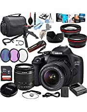 $519 » Canon EOS 2000D (Rebel T7) DSLR Camera with 18-55mm f/3.5-5.6 Zoom Lens + 64GB Card,Filters, Case, and More (32pc Bundle)
