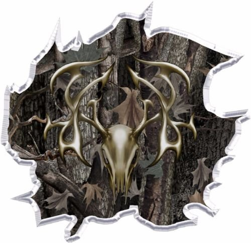 CAKEUSA Camouflage Deer Hunting Realtree Camo Birthday Cake Topper Edible Image 1/4 Sheet -