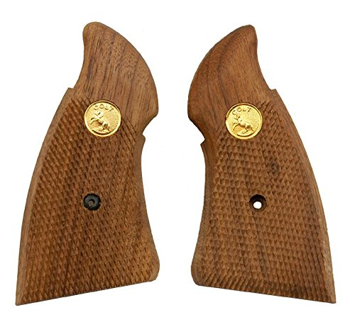 Numrich Gun Parts Colt Lawman MKIII Service Grips, Checkered Walnut