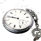 1910 Antique Elgin Pocket Watch 16s, 7 Jewel, wind up, 48.5mm Railroad Case, Chain, Runs E2797