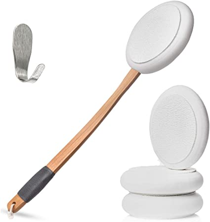 Amazon Com Lotion Applicators For Your Back Applicator Easy Reach Self Application Of Cream Sunscreen Self Tanner Set By Toem Includes 1 Applicator Handle 4 Pads 1 Hook 4 Pads Health Personal Care