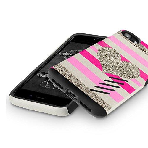 Funda iPhone 8, Orzly® Grip-Pro Case para iPhone 8/iPhone 7 (4,7 Pulgadas) - Funda duradera y ligera Capa Doble de mayor agarre y defensa - GRIS ESPACIAL CORAZÓN GripPro para iPhone 7