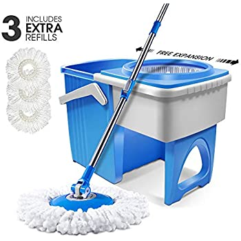 Amazon Com 7l Magic Hand Push Double Drive Spin Mop And