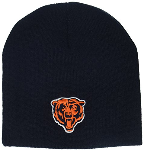 NFL Boys' Chicago Bears Uncuffed Knit Hat, Chicago Bears, Boys - Kids Bears Chicago Accessories