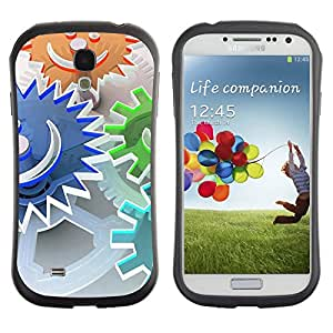 TopCaseStore Hybrid Rubber Case Hard Cover Protection Skin for SAMSUNG GALAXY S4 - Abstract Smiley