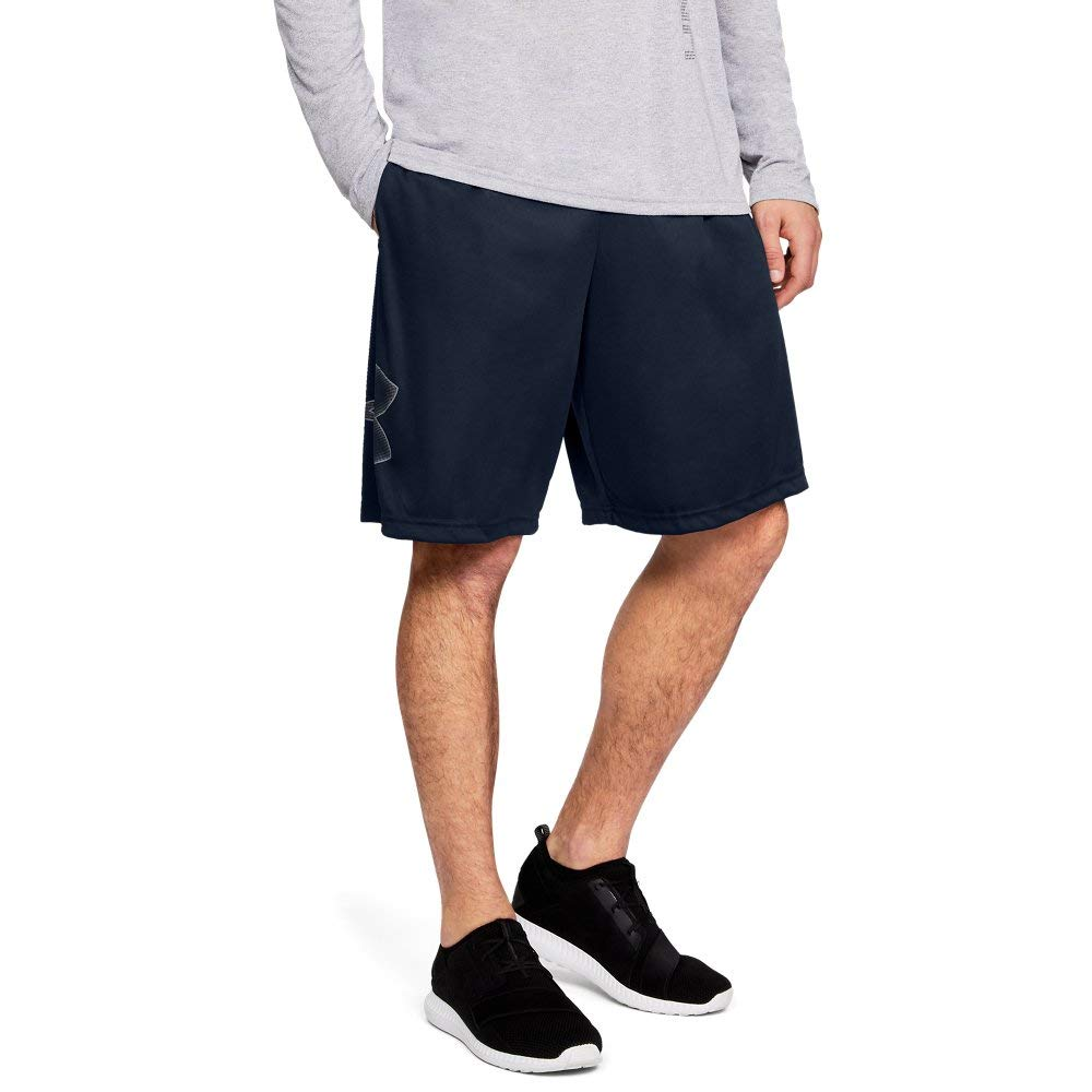 Under Armour mens Tech Graphic Shorts , Academy (409)/Steel, Small