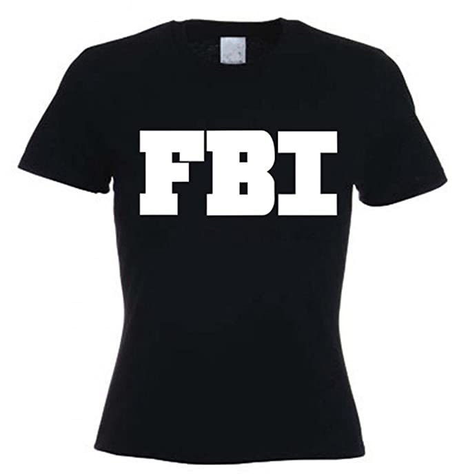 491dfca12d2 FBI Logo Fancy Dress Womens T Shirt  Amazon.co.uk  Clothing