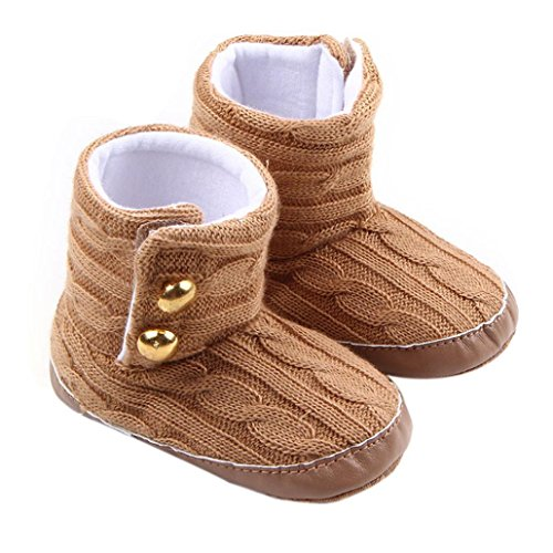 Elevin(TM)Toddler Infant Boy Girl Snow Warm Boots Soft Sole Prewalker Crib Shoes (12~18 Month)