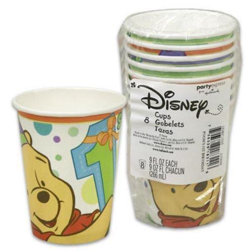 Winnie the Pooh Boy or Girl 1st Birthday Paper Cups (8ct) by Hallmark