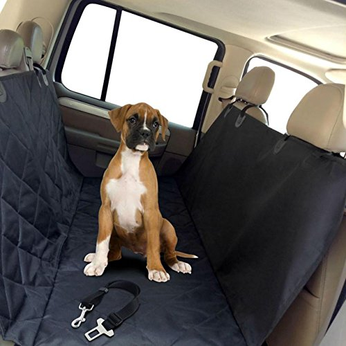 AUXMART Dog Seat Cover for Cars Trucks and SUVs – Non Slip Backing – Waterproof – Unconditional