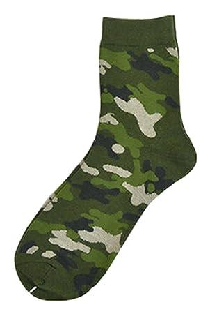 Conjunto de 2 creativo camuflaje calcetines calcetines de algodón hombres calcetines deportivos calcetines verdes: Amazon.es: Deportes y aire libre