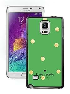 NEW DIY Customized Kate Spade Samsung Galaxy Note 4 Black Phone Case 016