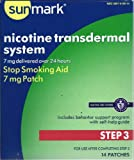 Sunmark Nicotine Transdermal System, Step 3 7mg box