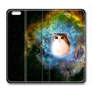 Cat In Space Animal Leather Cover for iPhone 6 Plus by Cases & Mousepads