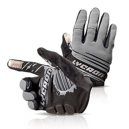 Women/Men Touch Screen Full Finger Gloves for Smartphone Yellow - 1
