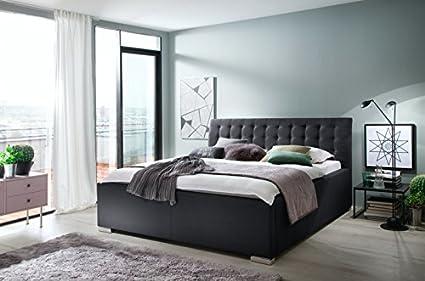 meise. möbel tapizada cama con somier de cama (pies de metal ...