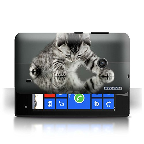 Etui / Coque pour Nokia Lumia 520 / Miroir conception / Collection de Chatons mignons